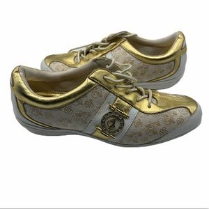 Baby Phat gold and white sneaker retro
